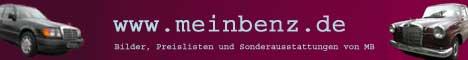 Fanpage mit Preislisten, Sonderausstattungen und Daten zu Mercedes Klassikern und Youngtimern